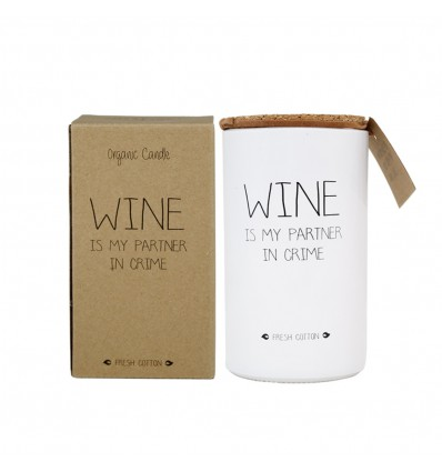 SOJAKAARS - WINE IS MY PARTNER IN CRIME - GEUR: FRESH COTTON