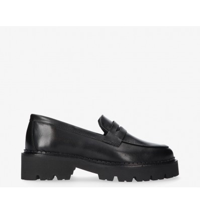 TANGO - Bee Bold Chunky black leather Loafer